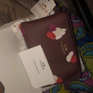 Brand new authentic Coach Burgundy Multi
